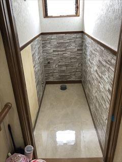 トイレ床、壁紙、リフォーム